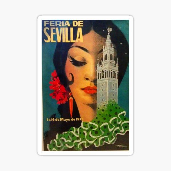 Feria de Sevilla Vintage Print Pegatina