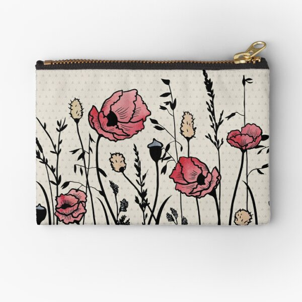 Summer Field (neutral remix) Zipper Pouch