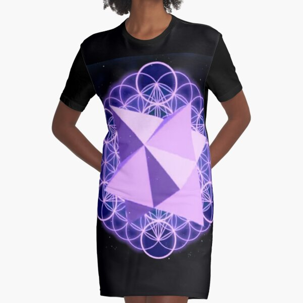 Flower of Life Human - symbol, illustration, design, crystal, jewelry, internet, shape, vector, sign, flag, vertical, sphere, 360-degree view, wide, gemstone, circle, shiny, precious gem, the media Graphic T-Shirt Dress