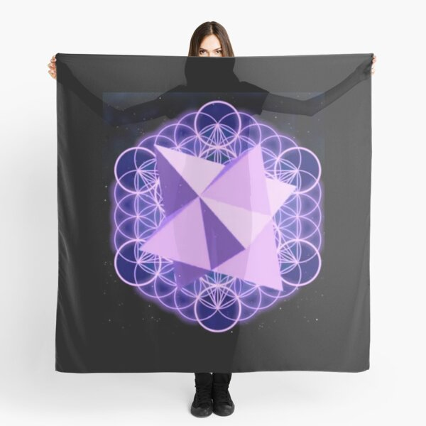 Flower of Life Human - symbol, illustration, design, crystal, jewelry, internet, shape, vector, sign, flag, vertical, sphere, 360-degree view, wide, gemstone, circle, shiny, precious gem, the media Scarf