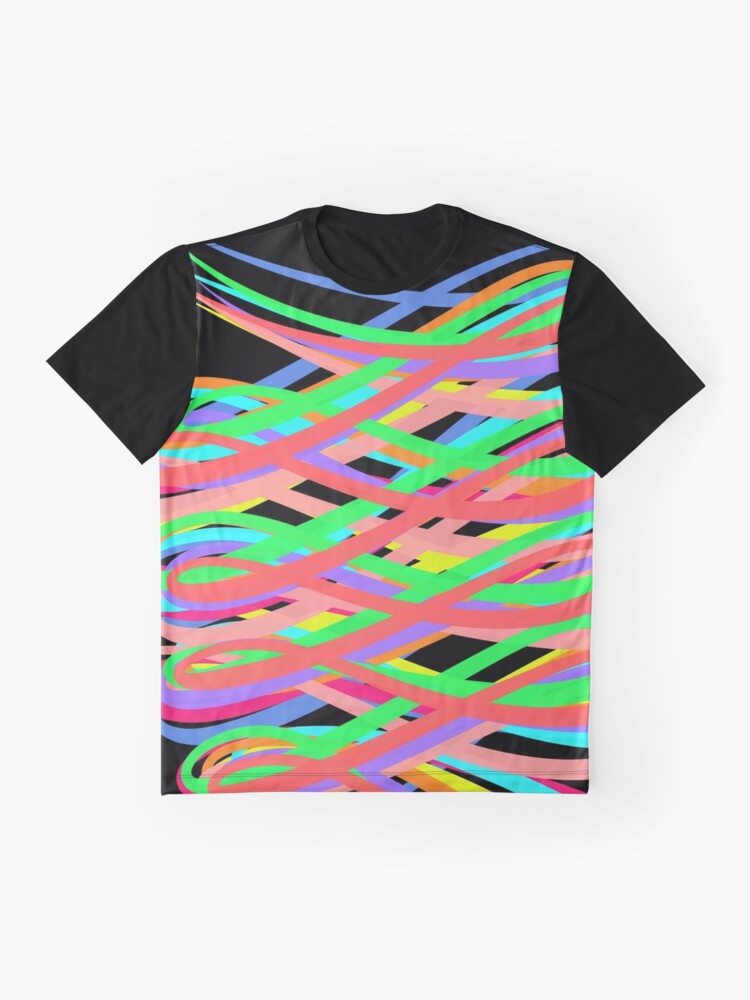 Alternate view of Neon Swirls - 80s Style - Graduation Gift Idea Graphic T-Shirt