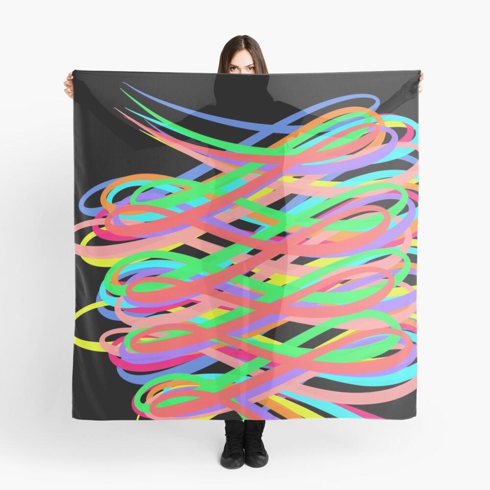 Neon Swirls - 80s Style - Graduation Gift Idea Scarf