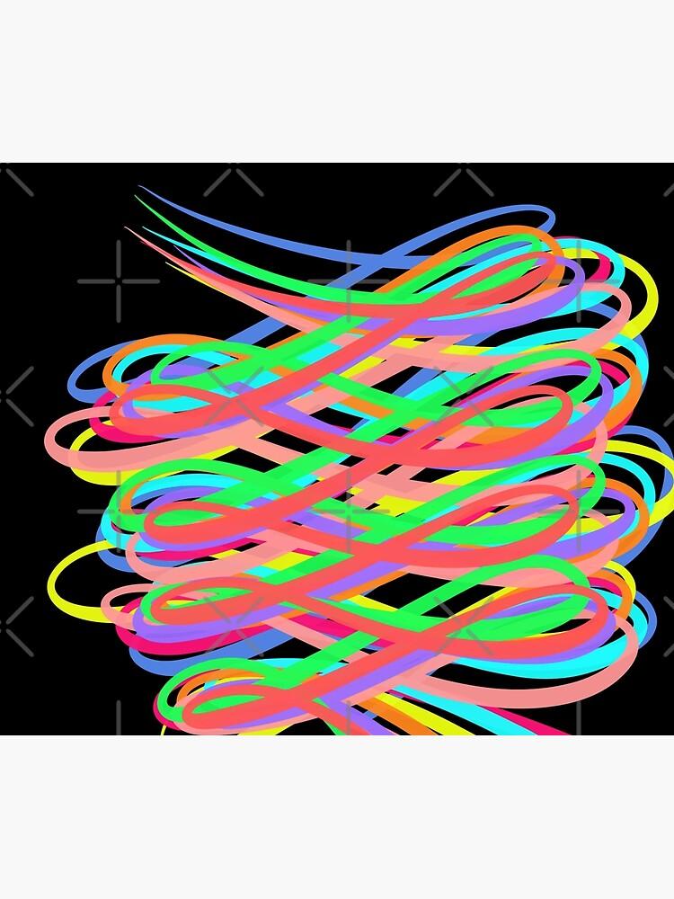 Neon Swirls - 80s Style - Graduation Gift Idea by OneDayArt