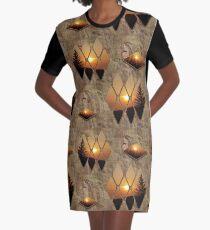 Evening Glow Graphic T-Shirt Dress