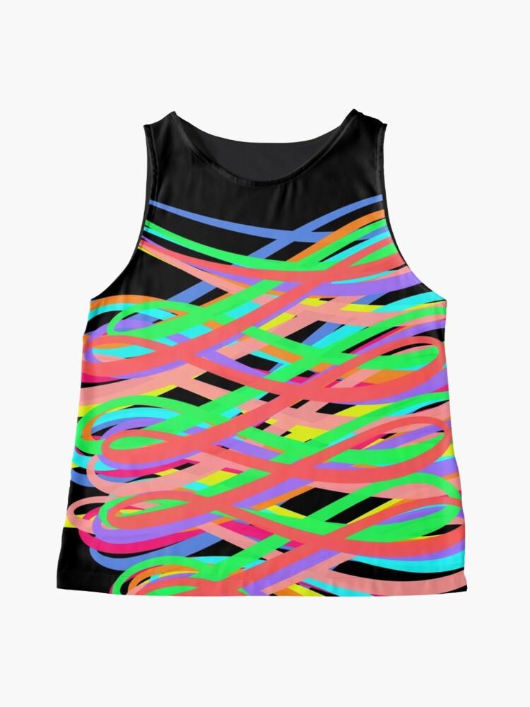 Alternate view of Neon Swirls - 80s Style - Graduation Gift Idea Sleeveless Top