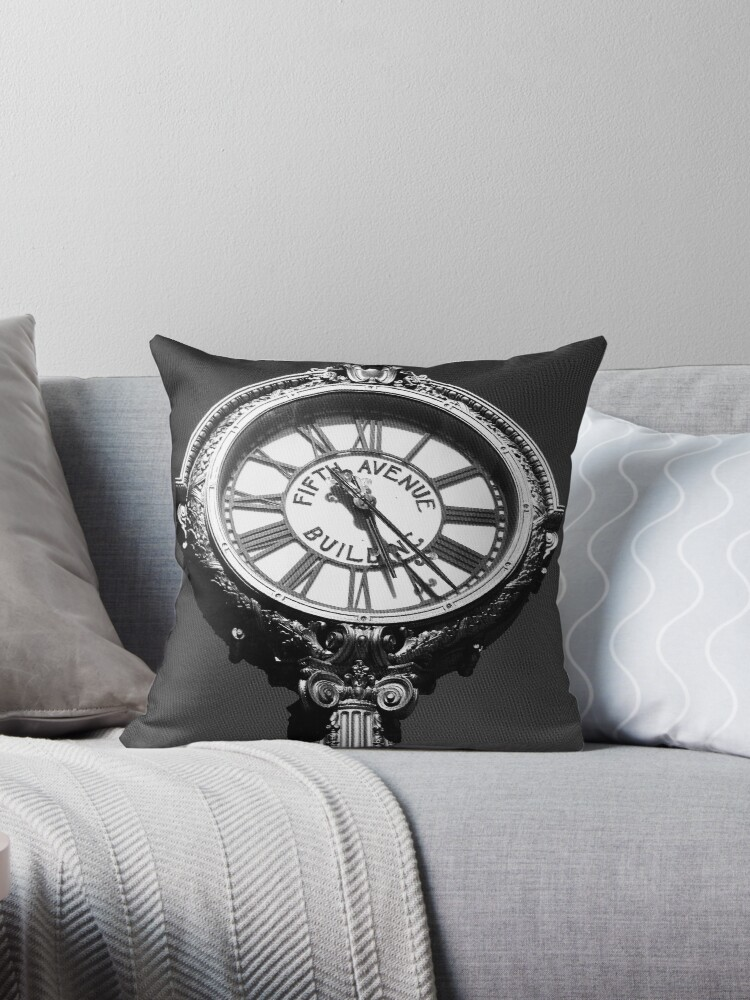 Tick Tock on 5th - Black and White Photography - New York City Art  by OneDayArt