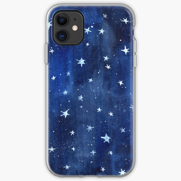 Star Watercolor Illustration iPhone Soft Case
