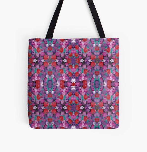 Wildflower Poppy Field All Over Print Tote Bag