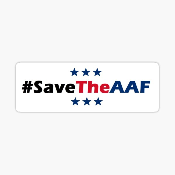 Save The AAF Bumper Sticker Sticker