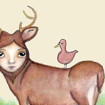Doe a Female Deer by peaceofpistudio