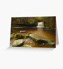 Cauldron Falls, West Burton, Bishopdale, Yorkshire Dales Greeting Card