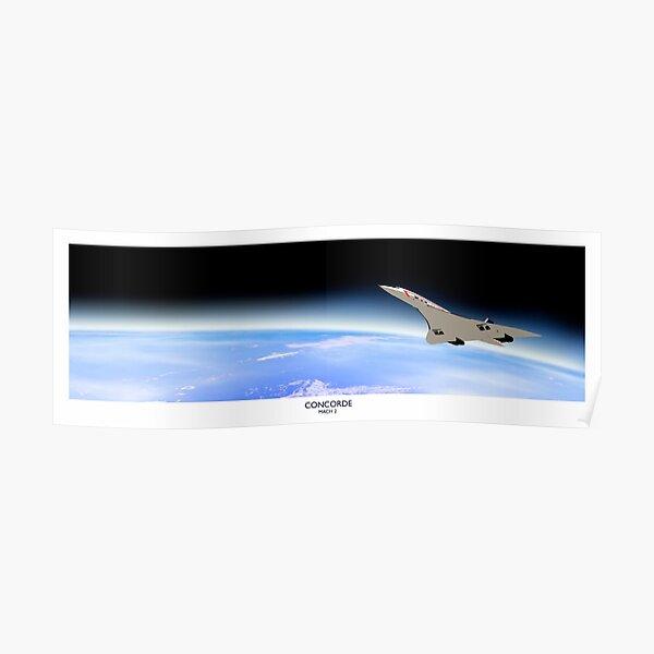 Concorde Mach 2 Poster