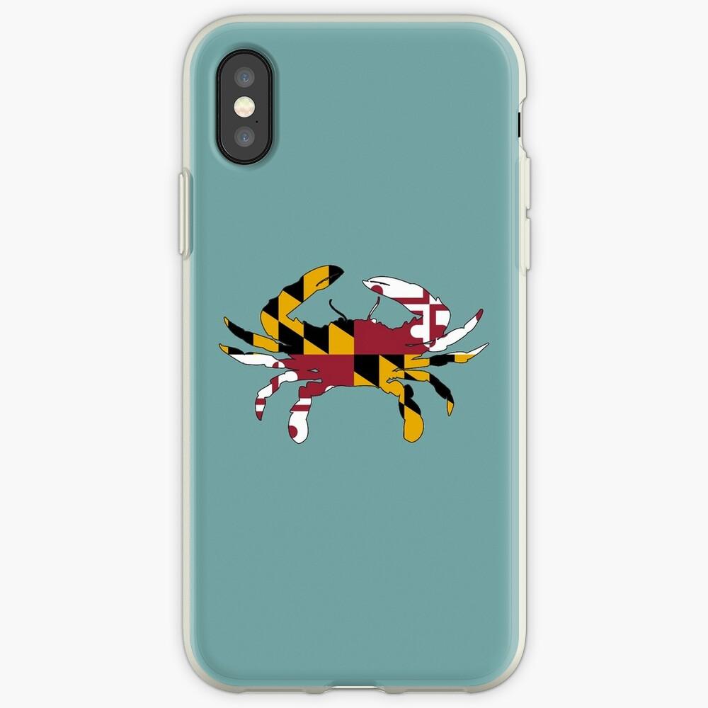 Cangrejo de la bandera de Maryland Funda y vinilo para iPhone