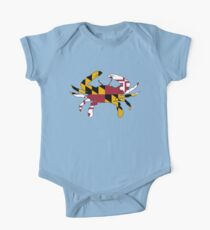 Maryland Flag Crab One Piece - Short Sleeve