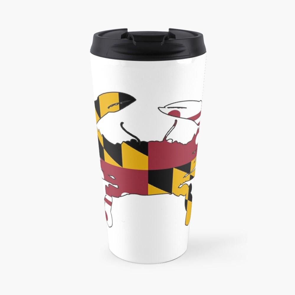 Cangrejo de la bandera de Maryland Taza de viaje