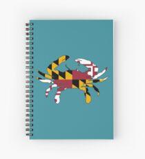 Maryland Flag Crab Spiral Notebook