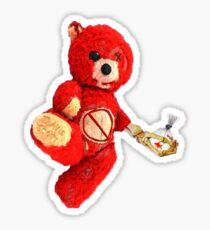 La Flame Teddy Bear Sticker