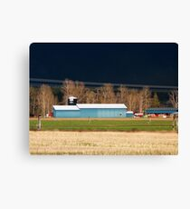 Stormy Montana Farm Canvas Print