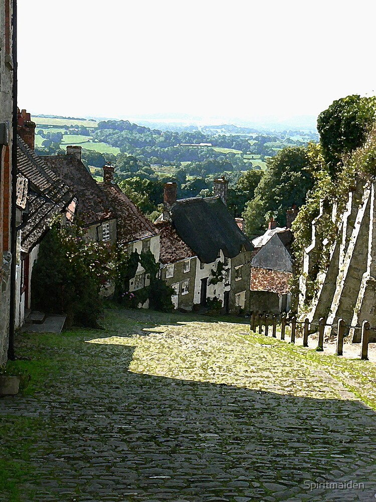 The infamous 'Gold Hill' in Shaftesbury by Spiritmaiden