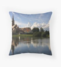 reflecting Wolfram in southern Germany Throw Pillow