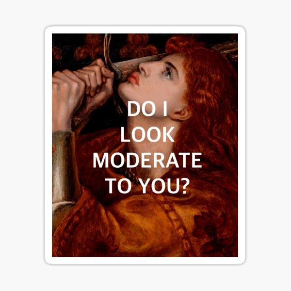 la moderación de joan de arc Pegatina