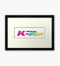 Sarang K-POP !! I Love K-POP !! Framed Print