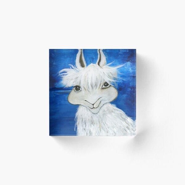 White Llama Acrylic Block