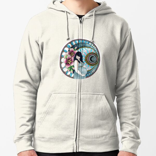 The Moon and You Zipped Hoodie