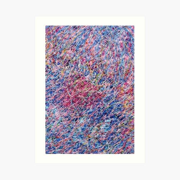Stitched Threads Art Print