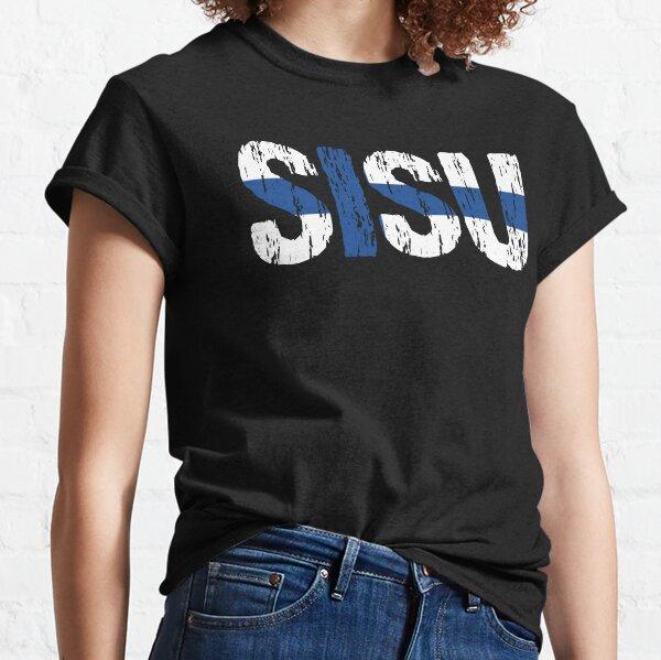 Sisu Finnish Flag Distressed Classic T-Shirt