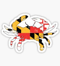 Maryland Flag Crab - Distressed Sticker