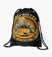 Firefighter by tradition Drawstring Bag
