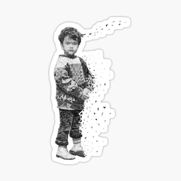 Vanishing Girl Sticker