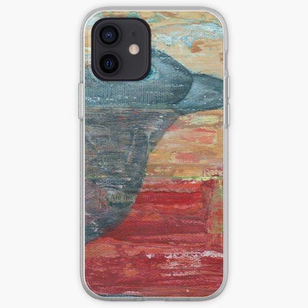 Watchful Raven on Red iPhone Soft Case