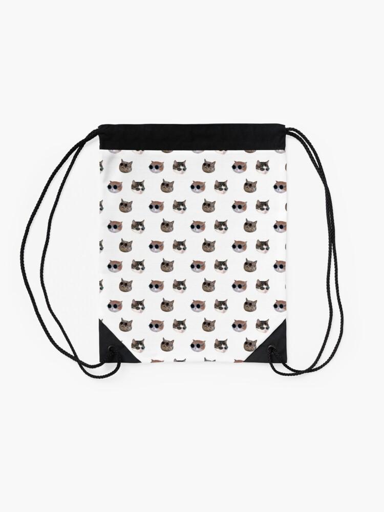Alternate view of Cool Kitties Sticker-pack Drawstring Bag