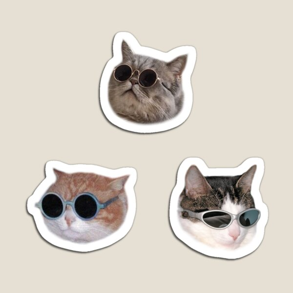 Cool Kitties Sticker-pack Magnet