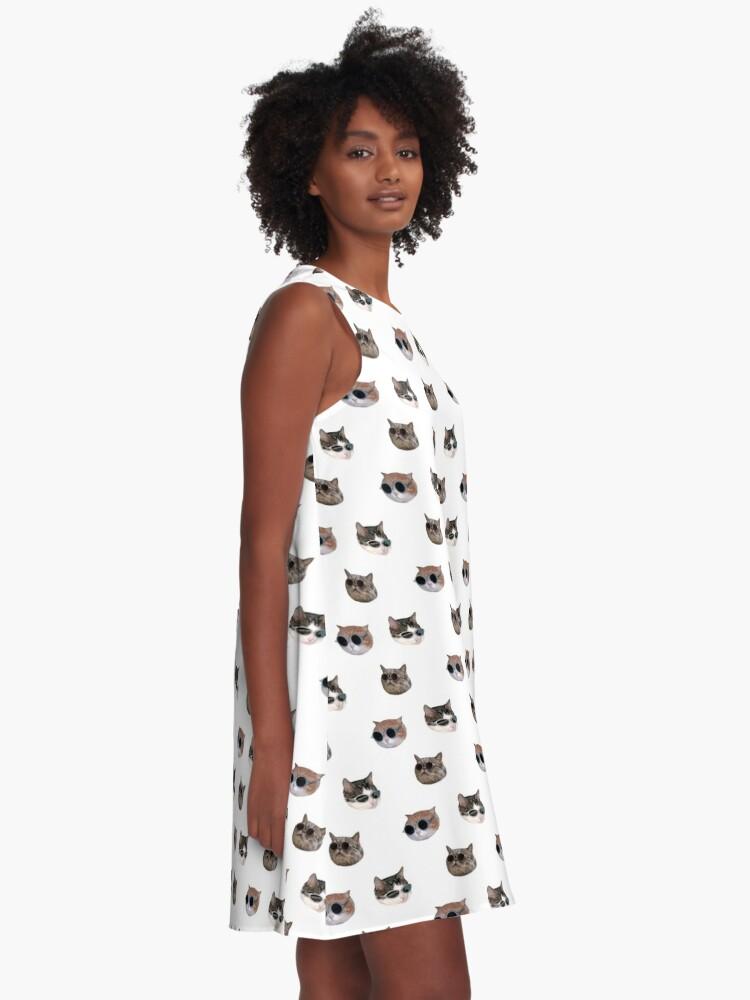 Alternate view of Cool Kitties Sticker-pack A-Line Dress