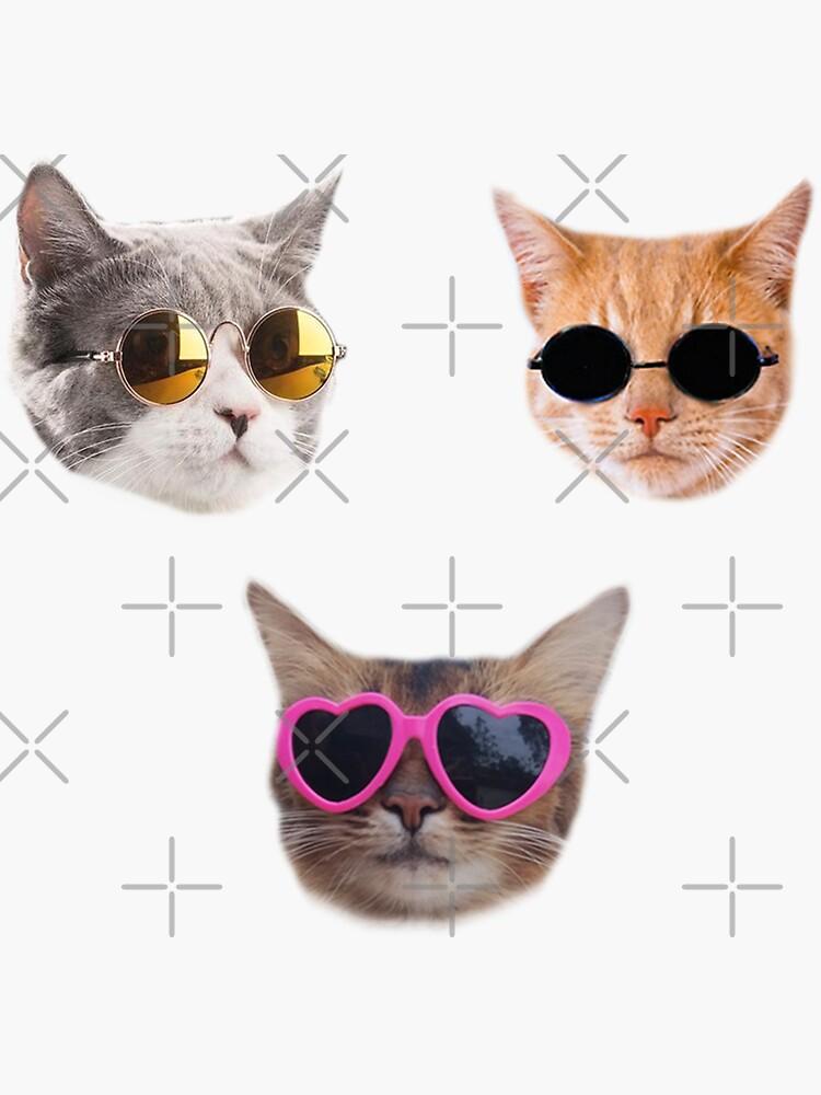 «Pack d'autocollants Cool Kitties # 1» par Elisecv