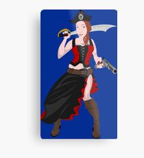 Kindra The Wicked Pirate  Metal Print