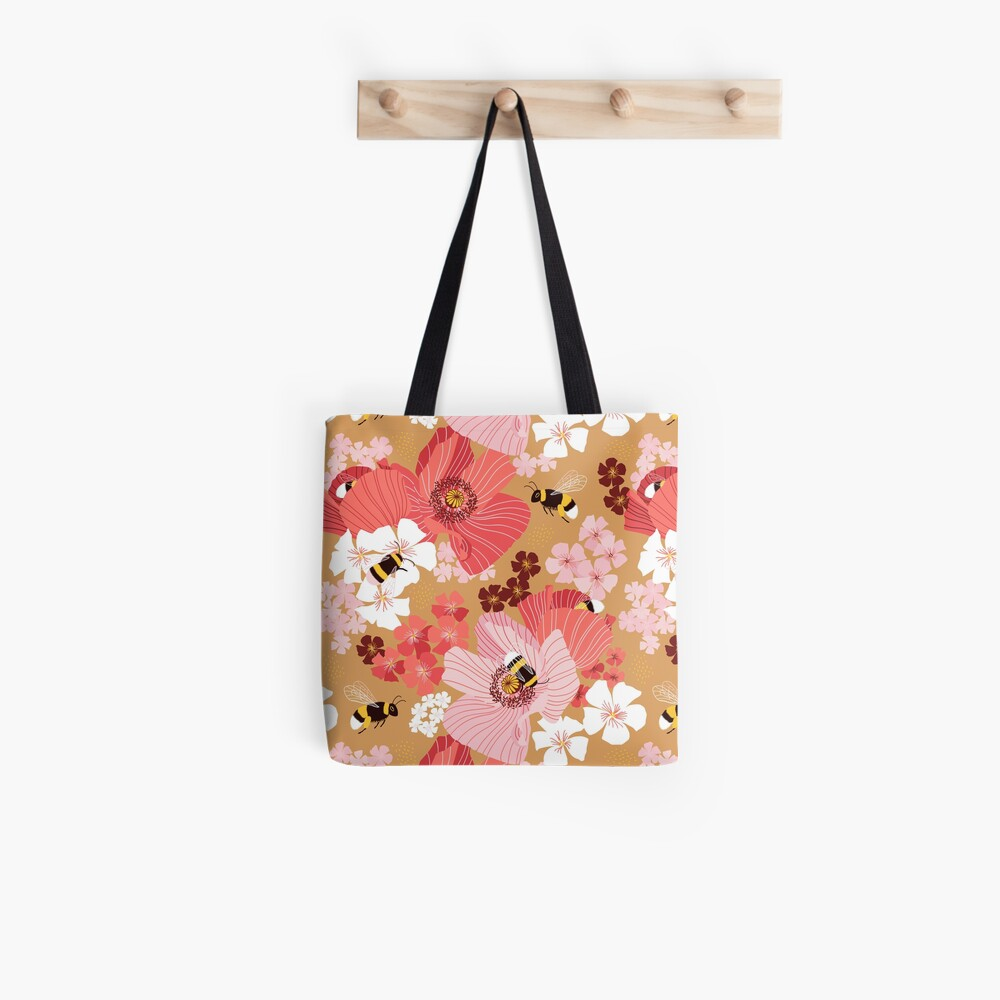 Bumblebees and pollen Tote Bag