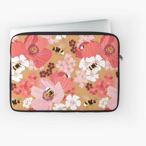 Bumblebees and pollen (with stickers) Laptop Sleeve