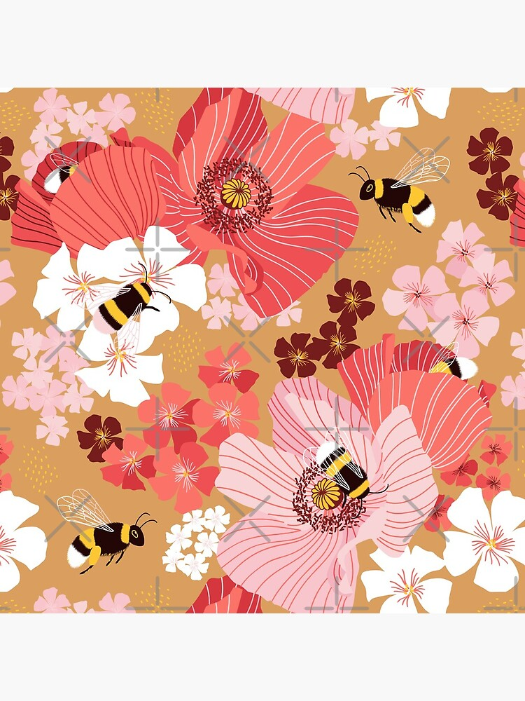 Bumblebees and pollen (with stickers) by nadyanadya