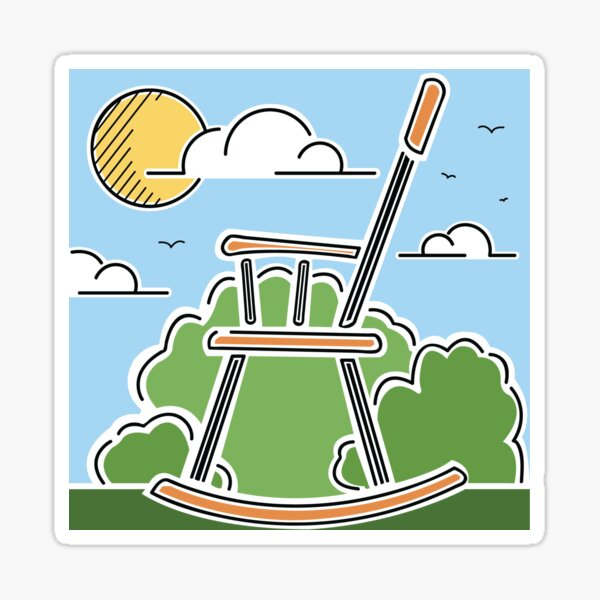 World's Largest Rocking Chair Illustration | Big Things Small Town | Casey Illinois Sticker