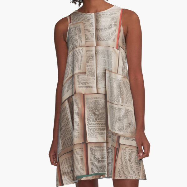 Open Books Library Bookworm Reading A-Line Dress