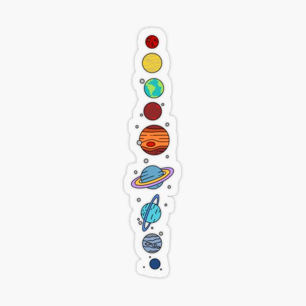 Solar System Transparent Sticker