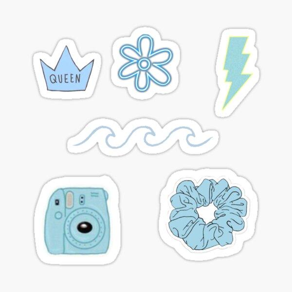 Blauer Aufkleber für ästhetische Vielfalt Sticker