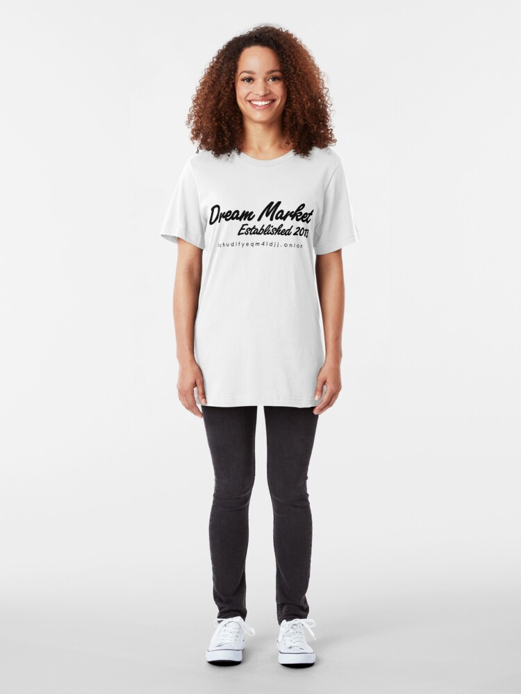 Alternate view of Dream Market with URL Slim Fit T-Shirt
