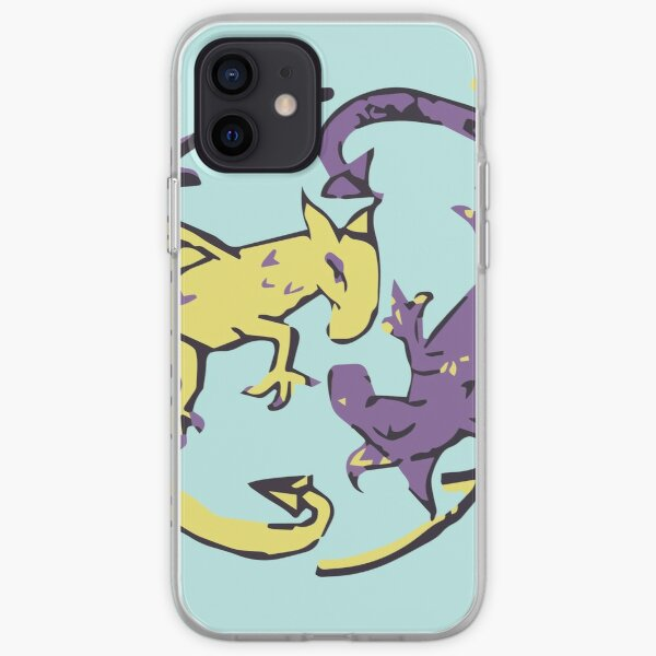 Spiraling Dragons iPhone Soft Case