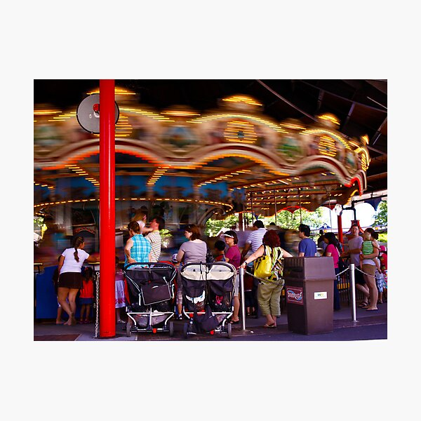 The Carousel-Hershey Park, PA Photographic Print