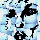Pop Art abstract woman's face- 1960's retro art style by Angie Stimson